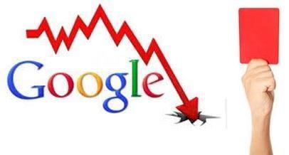 구글 랭킹 하락